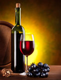 Still life with wine bottles Stock Photos