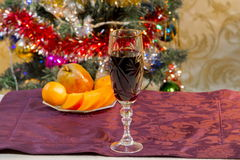 Still life with wine and fruit Royalty Free Stock Photo