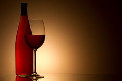Still-life with the wine glass Stock Photography