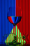 Still life with wine glasses Royalty Free Stock Photo