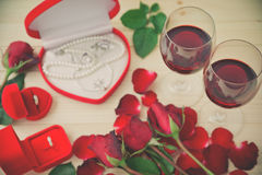 Still life of Wine glasses. Stock Photos