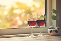 Still life of Wine glasses. Royalty Free Stock Photo