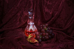 Still life with wine. royalty free stock photos