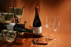 Still-life on a wine theme Stock Image
