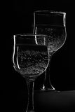 Still-life wineglasses sparkling drink Stock Images