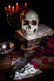Still Life With A Skull Stock Image