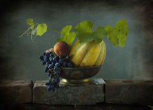 Still Life With A Yellow Melon Royalty Free Stock Images