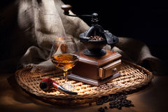 Still Life With Coffee Mill Royalty Free Stock Photos