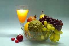 Still Life With Fruits & Juice. Stock Photography
