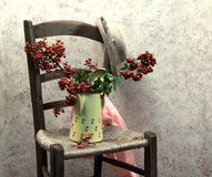 Still life with wood chair Stock Photo
