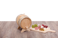 Still-life with wooden cask Royalty Free Stock Image