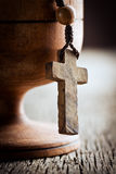 Still life with wooden cross Stock Images