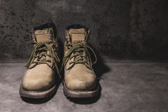 Still life working hard boots Stock Photo