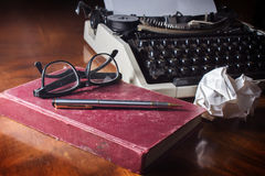 Still life writer or authur tools. Royalty Free Stock Photos