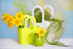 Still life with yellow flowers Royalty Free Stock Photos