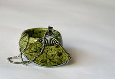 Still, the miniature products from  green semiprecious stone Royalty Free Stock Images