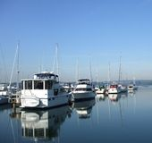 Still Morning at the Marina Royalty Free Stock Images