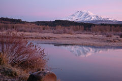Still Morning Sunrise Trout Lake Adams Mountain Gifford Pinchot Stock Photos