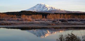 Still Morning Sunrise Trout Lake Adams Mountain Gifford Pinchot Royalty Free Stock Photos