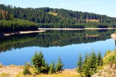 Still mountain lake stock images