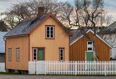 Still Norwegian village with wooden houses Royalty Free Stock Photography