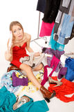 Still nothing to wear! Stock Photos