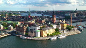 Still panorama of Stockholm, Sweden. Scenic summer still aerial panorama of Stockholm, Sweden stock footage