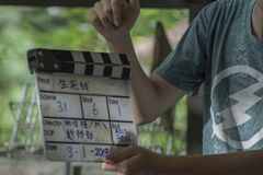 Cinematographic shooting from a movie production scene