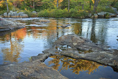 Still pools on Moose River Royalty Free Stock Image