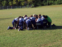 We Still Pray. My son's soccer team prays before every game Stock Photos