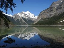 Whitehorn Mountain Reflected in Kinney Lake, Mount Robson Provincial Park, British Columbia royalty free stock photos