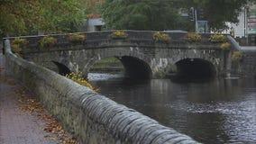Still shot of an old Irish stone bridge stock footage