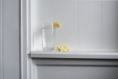 Still Water With Lemon Royalty Free Stock Photos