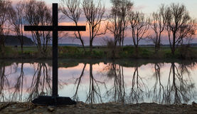 Still Waters Cross Royalty Free Stock Images