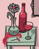 still wine för livstid stock illustrationer
