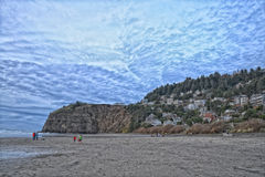 Stilla havet HDR två personer Royaltyfri Foto