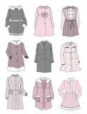Stilla lag för små flickor Royaltyfria Bilder