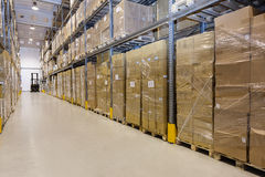 Stillage in warehouse Stock Photos