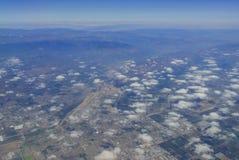 Stillahavs- flyg- sikt av Oxnard Royaltyfri Fotografi