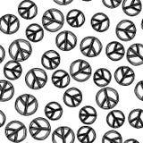 Stillahavs- fredsymbol - också vektor för coreldrawillustration Fotografering för Bildbyråer