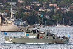 Stillahavs- FSS MIKRONESIEN FSM02 f?r fartyg f?r forumgrupppatrull fr?n den Micronesian regeringen i Sydney Harbor arkivbilder