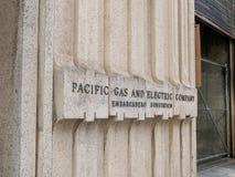 Stillahavs- gas & elektriskt PG&E-läge som lokaliseras i San Francisco royaltyfri fotografi