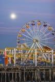 Stillahavs- hjul för Santa Monica pir, Santa Monica Arkivbilder