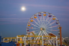 Stillahavs- hjul för Santa Monica pir, Santa Monica Arkivfoton