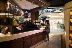 Stillahavs- kaffeinterio Royaltyfria Bilder