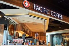 Stillahavs- kaffekafé Arkivbilder