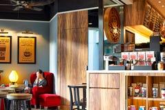 Stillahavs- kaffekafé Fotografering för Bildbyråer