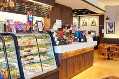 Stillahavs- kaffekafé Arkivfoton