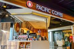 Stillahavs- kaffekafé Royaltyfria Foton