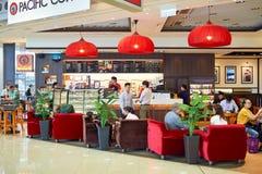 Stillahavs- kaffekaféinre Fotografering för Bildbyråer